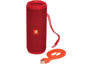Altavoz inalámbrico - JBL Flip 4, 16W, Bluetooth, Rojo