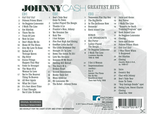 Johnny Cash - Greatest Hits  - (CD)