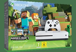MICROSOFT Xbox One S 500GB Konsole - Minecraft Bundle