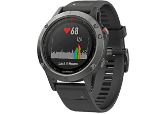 Reloj deportivo - Garmin Fenix 5, Gris, Bluetooth, GPS, GLONASS, Frecuencia cardíaca, 47 mm