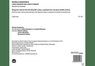 Schola Hungarica - Adventus Domini-Gregorianische Gesänge aus dem G  - (CD)