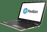 HP Pavilion 15-au170ng, Notebook mit 15.6 Zoll Display, Core™ i5 Prozessor, 8 GB RAM, 1 TB HDD, 128 GB SSD, GeForce 940MX, Gold