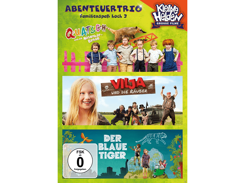 Abenteuertrio Kinderfilmbox - Familienspass Hoch 3 [DVD]