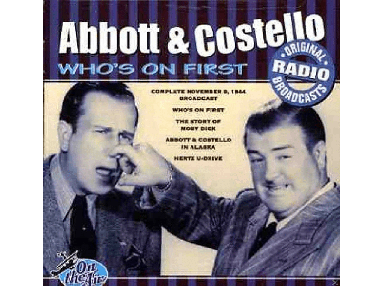 Abbot & Costello - Who's On First [CD]