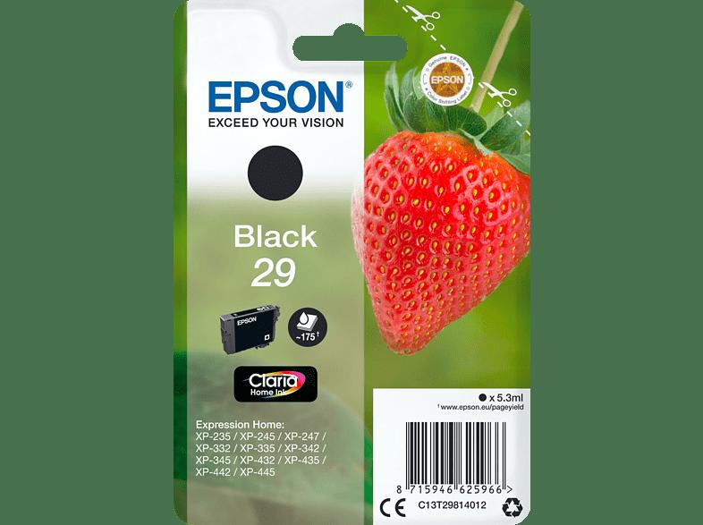 EPSON Original Tintenpatrone Erdbeere Schwarz (C13T29814012)
