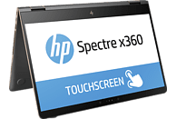HP Spectre x360 15-BL030NG, Convertible mit 15.6 Zoll Display, Core™ Prozessor, 16 GB RAM, 512 GB SSD, GeForce 940MX, Dark Ash Silver/Aluminium