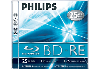 PHILIPS 5 Pack BD-RE 25GB 2 x (BE22S2J01F)
