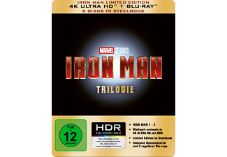 Iron Man Trilogie - Limited 4K Ultra HD Edition im Steelbook 4K Ultra HD Blu-ray + Blu-ray