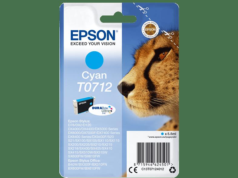 EPSON Original Tintenpatrone Gepard Cyan (C13T07124012)