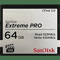 SANDISK Extreme PRO®, CFast 2.0 Speicherkarte, 64 GB, 525 MB/s