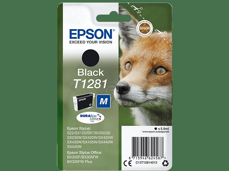 EPSON Original Tintenpatrone Fuchs Schwarz (C13T12814012)