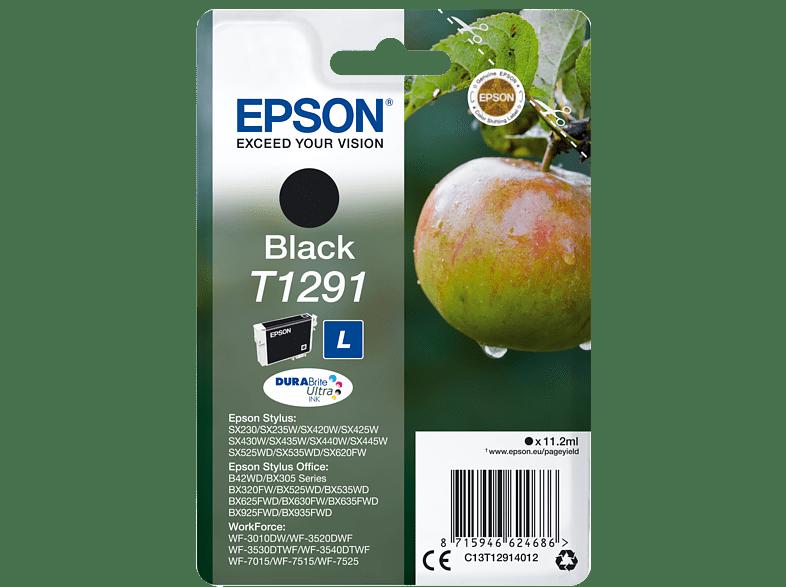 EPSON Original Tintenpatrone Apfel Schwarz (C13T12914012)