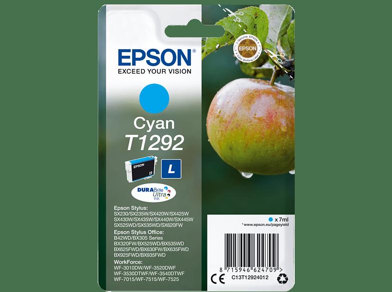 EPSON Original Tintenpatrone Apfel Cyan (C13T12924012)