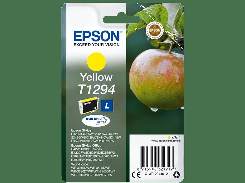 EPSON Original Tintenpatrone Apfel Gelb (C13T12944012)