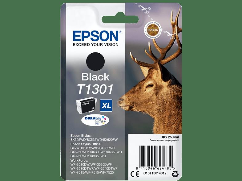 EPSON Original Tintenpatrone Hirsch Schwarz (C13T13014012)