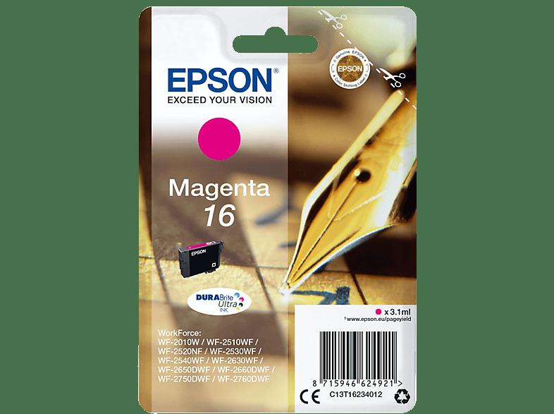 EPSON Original Tintenpatrone Füller Magenta (C13T16234012)