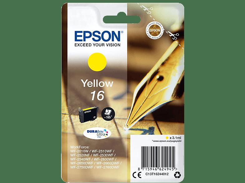 EPSON Original Tintenpatrone Füller Gelb (C13T16244012)
