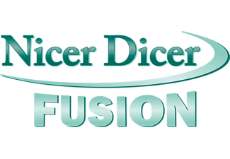 GENIUS 33999 Nicer Dicer Fusion Reibe Dunkelgrün