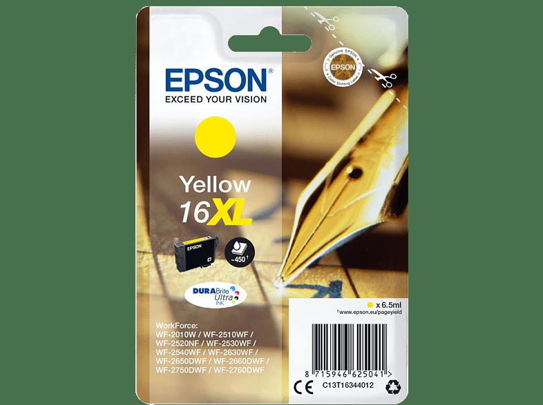 EPSON Original Tintenpatrone Füller Gelb (C13T16344012)