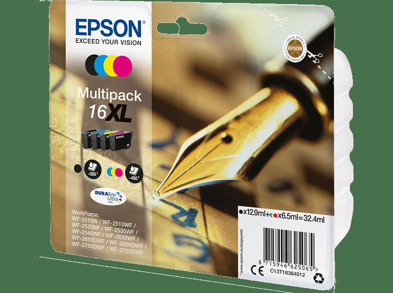 EPSON Original Tintenpatrone Füller Mehrfarbig (C13T16364012)