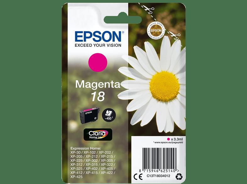 EPSON Original Tintenpatrone Gänseblümchen Magenta (C13T18034012)