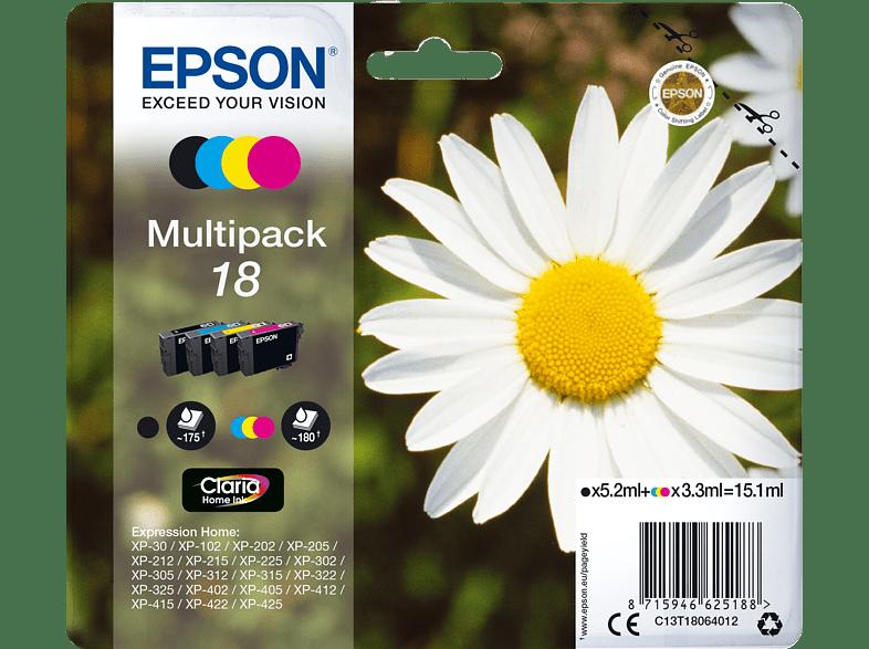 EPSON Original Tintenpatrone Gänseblümchen mehrfarbig (C13T18064012)
