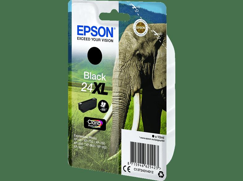 EPSON Original Tintenpatrone Elefanten Schwarz (C13T24314012)