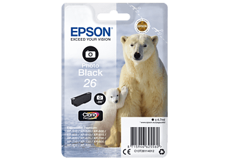 EPSON Singlepack Photo Black 26 Claria Premium Ink - (C13T26114012)