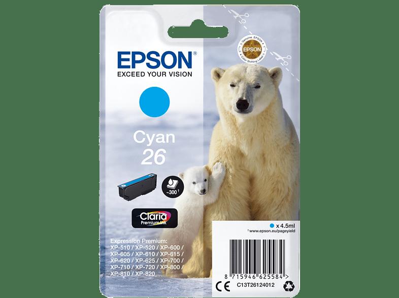 EPSON Original Tintenpatrone Eisbär Cyan (C13T26124012)