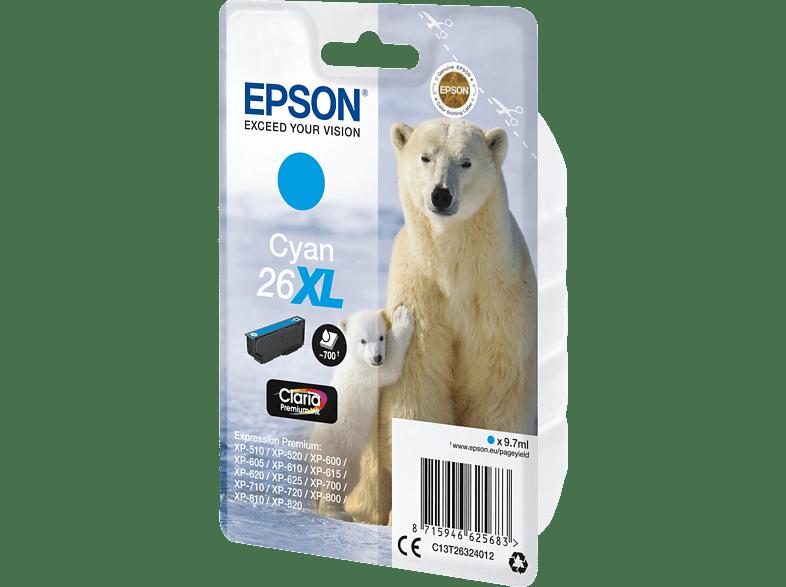 EPSON Original Tintenpatrone Eisbär Cyan (C13T26324012)