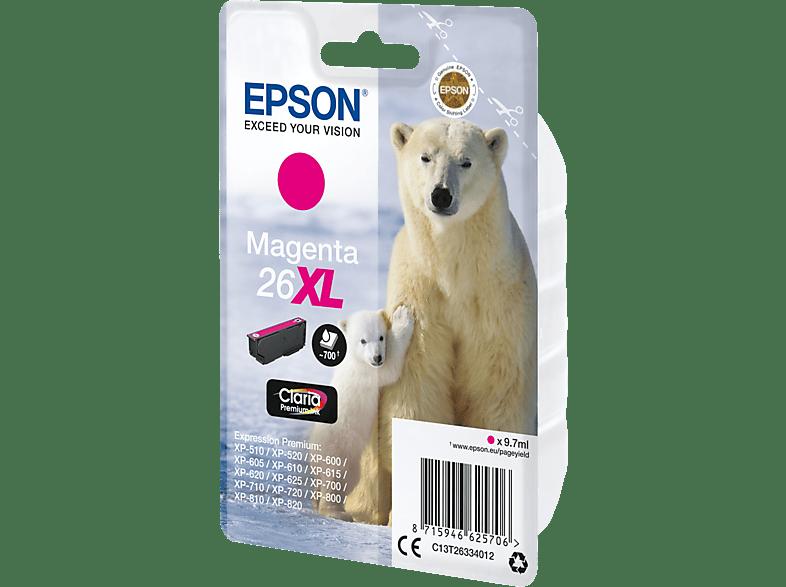 EPSON Original Tintenpatrone Eisbär Magenta (C13T26334012)