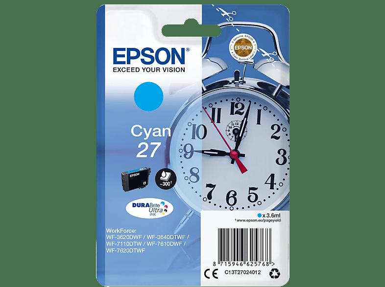 EPSON Original Tintenpatrone Wecker Cyan (C13T27024012)