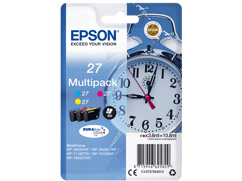 EPSON Original Tintenpatrone Wecker mehrfarbig (C13T27054012)