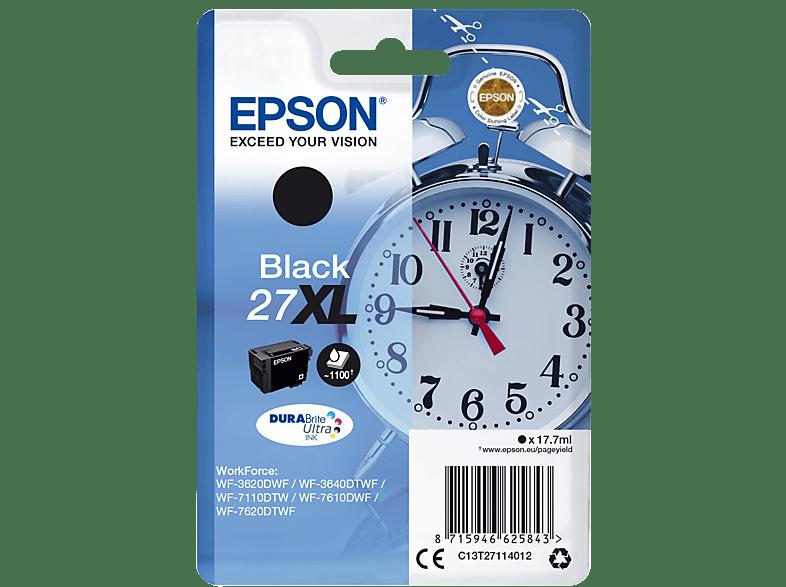EPSON Original Tintenpatrone Wecker Schwarz (C13T27114012)