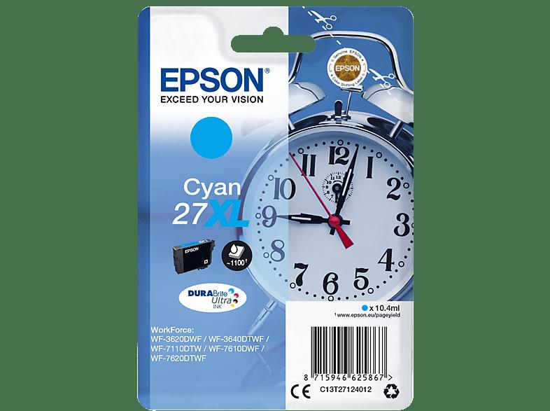 EPSON Original Tintenpatrone Wecker Cyan (C13T27124012)
