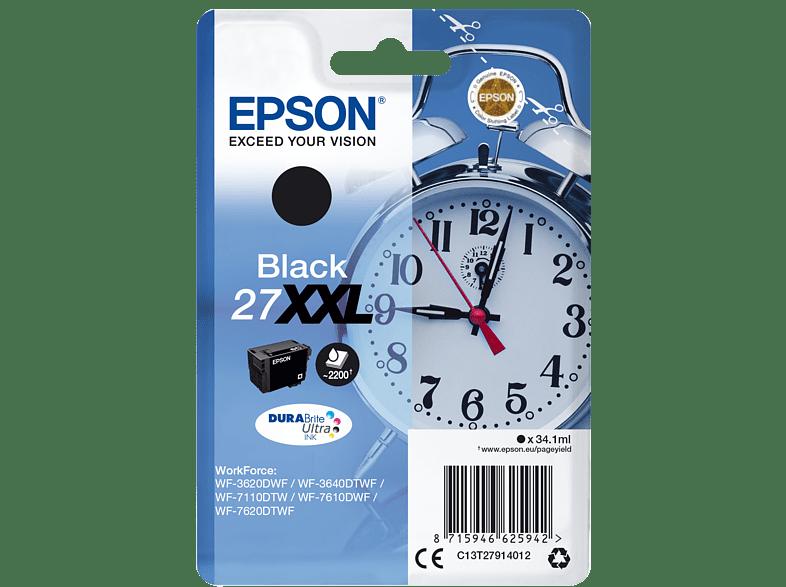 EPSON Original Tintenpatrone Wecker Schwarz (C13T27914012)