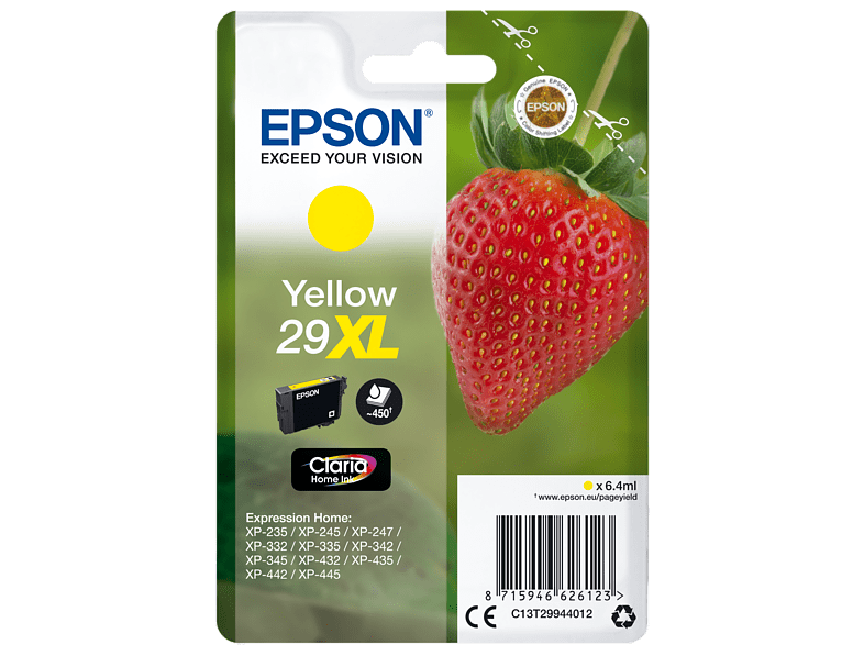 EPSON Original Tintenpatrone Erdbeere Gelb (C13T29944012)