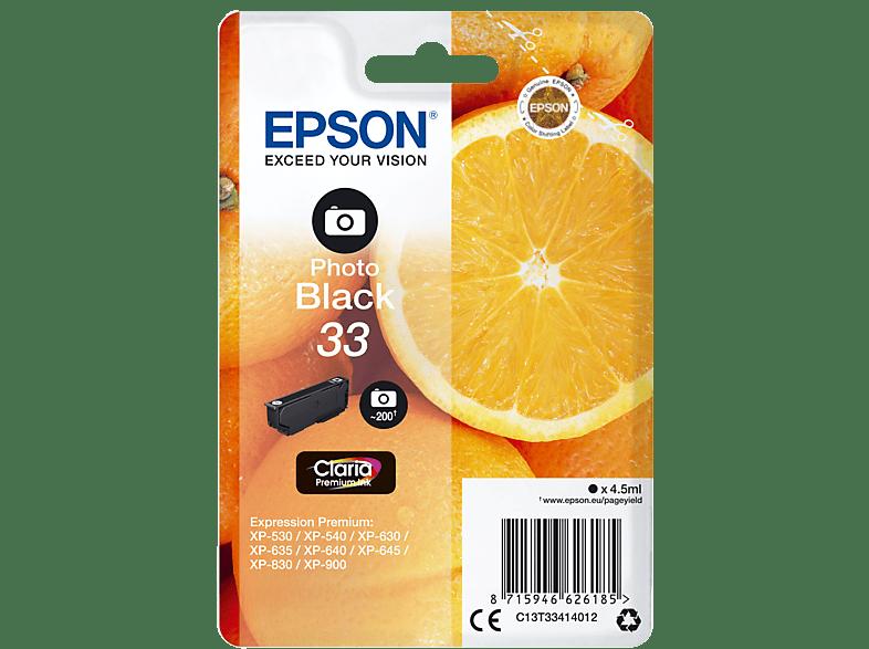 EPSON Original Tintenpatrone Orange Photo Schwarz (C13T33414012)