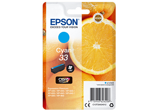 EPSON Original Tintenpatrone Cyan (C13T33424012)