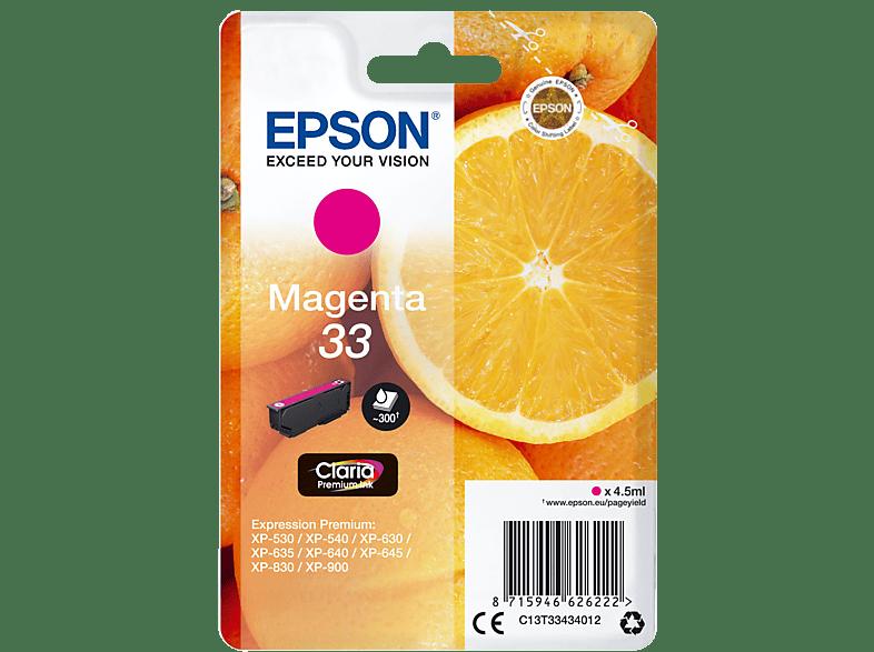 EPSON Original Tintenpatrone Orange Magenta (C13T33434012)