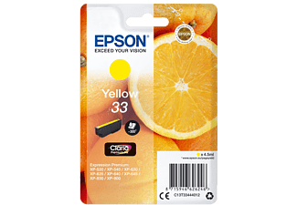 EPSON Original Tintenpatrone Gelb (C13T33444012)