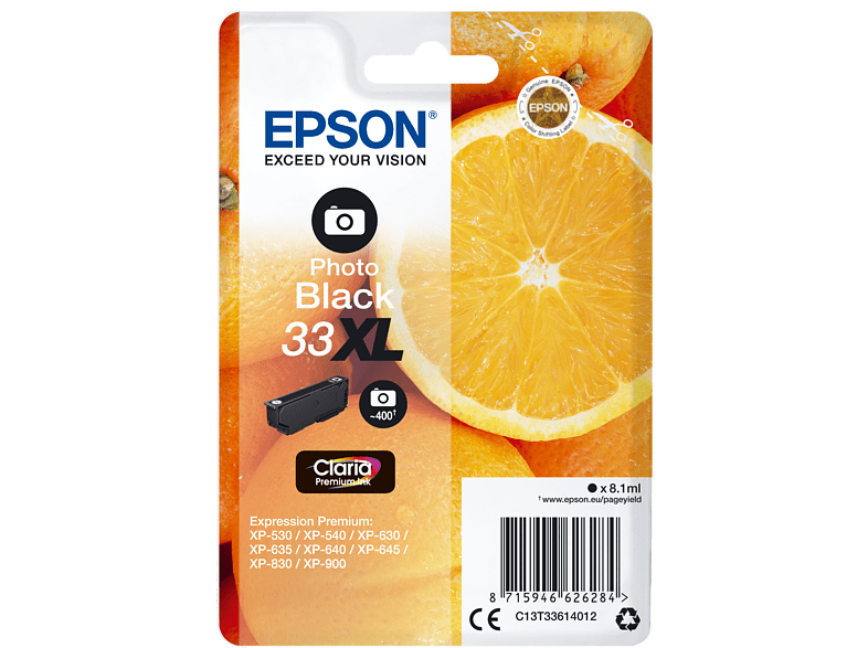 EPSON Original Tintenpatrone Orange Photo Schwarz (C13T33614012)