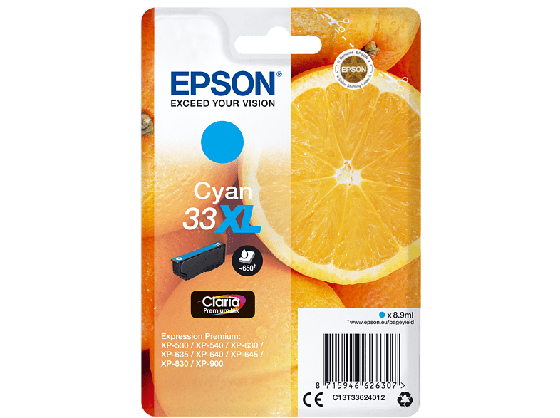 EPSON Original Tintenpatrone Orange Cyan (C13T33624012)