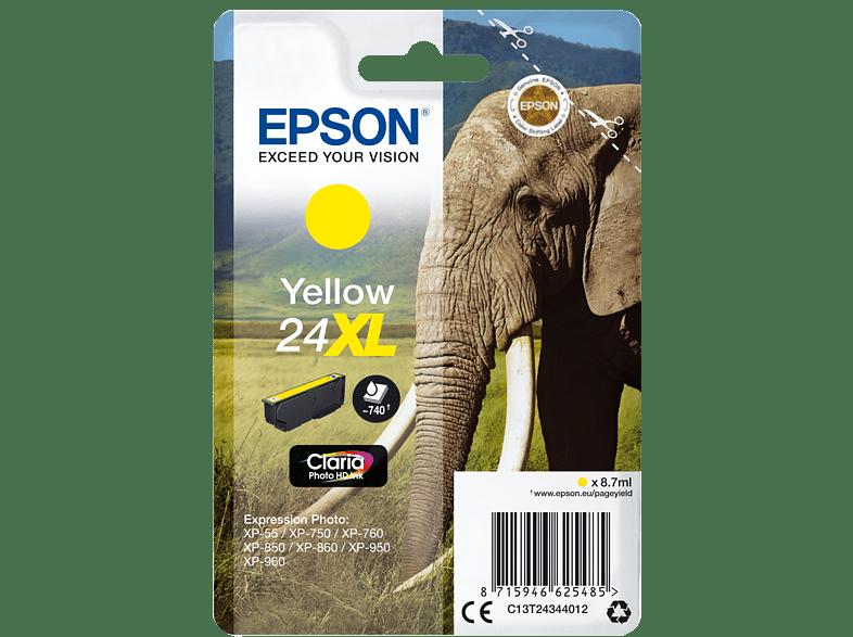 EPSON Original Tintenpatrone Elefanten Gelb (C13T24344012)