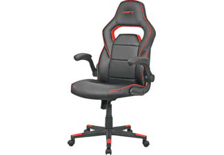 Silla Gaming - Drift DR75, abatible 15º, reposabrazos regulable, Negro y rojo