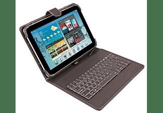 Funda con teclado para tablets de 9 a 10 pulgadas - Silver HT 19160, microUSB, negro, función