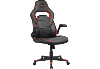 Silla Gaming - Drift DR75, abatible 15º, reposabrazos regulable, Negro y rojo