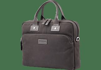 DBRAMANTE 1928 GO Briefcase Helsingborg Notebooktasche Umhängetasche für Apple Canvas, Braun