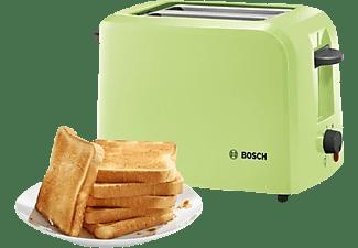 BOSCH TAT3A016 Toaster Matcha Grün/Weiß (980 Watt, Schlitze: 2)