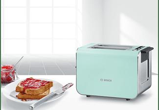 BOSCH TAT8612 Styline Toaster Türkis/Mint/Grau (860 Watt, Schlitze: 2)